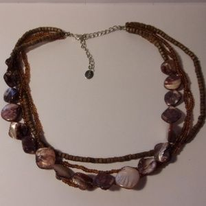 Icing Brown Bead Shell Necklace